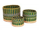Bamboula Basket Sets STRAW CYLINDER BASKETS BSKG34 BSKG35