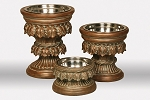 Unleashed Life Baroque Raised Copper Dog Bowls