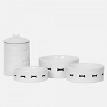 Unleashed Life Bone Appetit Dog Bowls and Canister