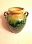 Decorative Ceramic Mural Jars from Provence - Green and Honey Dribbles