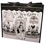 Chez Jeannette Outdoor Café Tote Style Bag - Large Size - In French