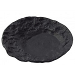 Crater Black Molten Glass Dish Ware Collection