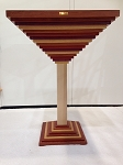Passion for Wood - Martini Table - SHOW - Movingui, Amarante, Padouk and Bubinga with leg Ash