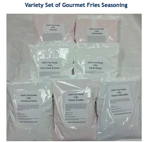 B2B Gourmet Fries Seasoning 9 - 2 LB bags each - For USA 48 States TRADE ONLY