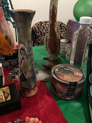 Fair Trade  African Soapstone Vases and Coasters - Cash & Pick Up