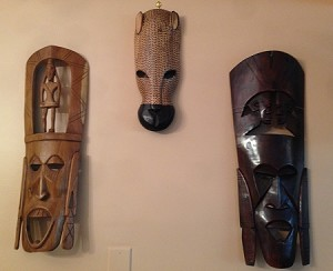 Fair Trade  African Handmade Wooden Carved Masks - Cash & Pick Up